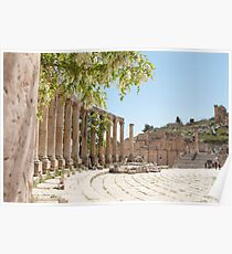 The Forum in Jerash Poster