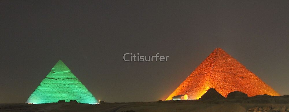 Pyramids by Night by Citisurfer