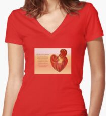 If A Kiss Were A Raindrop Greeting  Women's Fitted V-Neck T-Shirt
