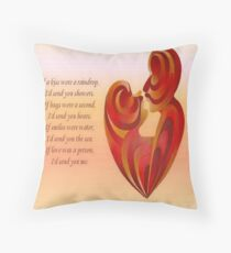 If A Kiss Were A Raindrop Greeting  Throw Pillow