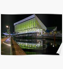 Aquatics Centre at Night Poster