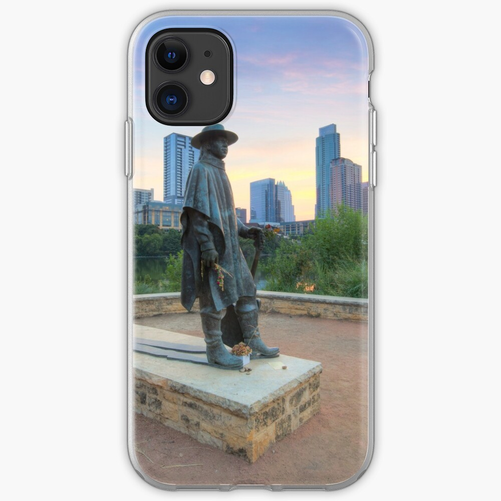 Stevie Ray Vaughan Statue in Austin Texas 1 iPhone Case & Cover