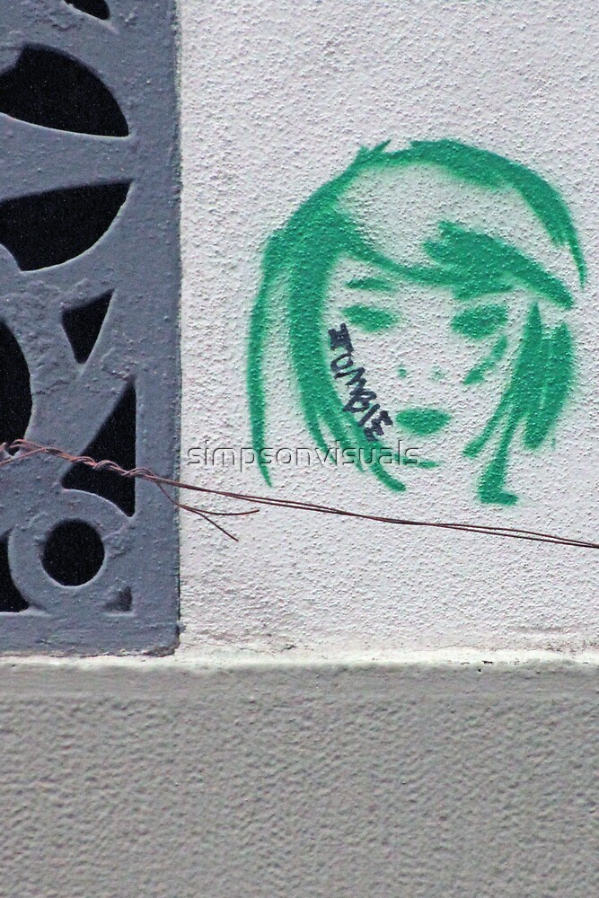Zombie Girl Stencil Graffiti, Florence, Italy by simpsonvisuals
