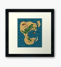 Pirate Map Framed Print