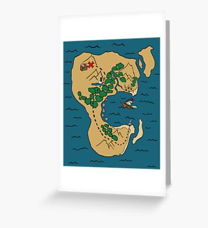 Pirate Map Greeting Card