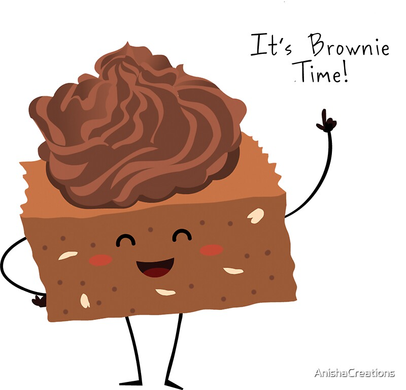 """""""BROWNIE TIME!"""" Stickers by AnishaCreations 