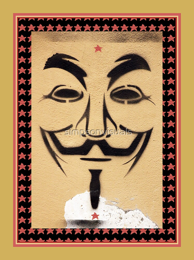 Anonymous Guy Fawkes Mask by simpsonvisuals
