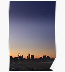 Sunset over North Ave Beach Chicago, IL Poster