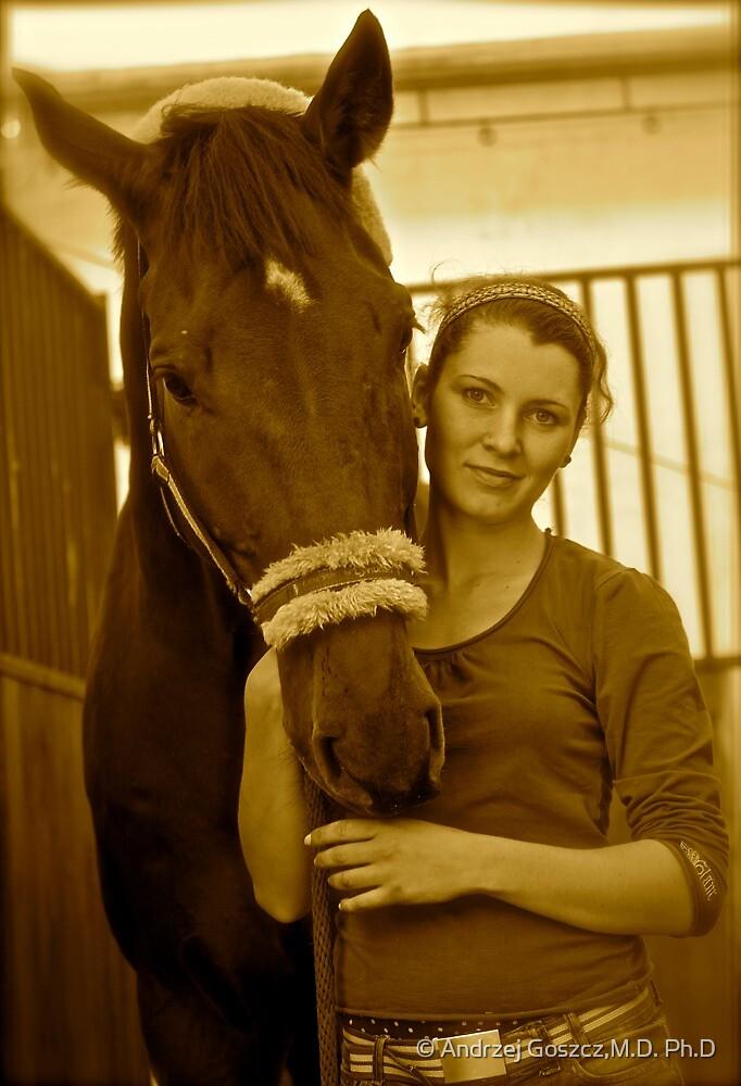 The Lady Rider . ### 2 ### . Galicia . Hipodrom Kraków - Swoszowice. by Andrzej Goszcz. by © Andrzej Goszcz,M.D. Ph.D
