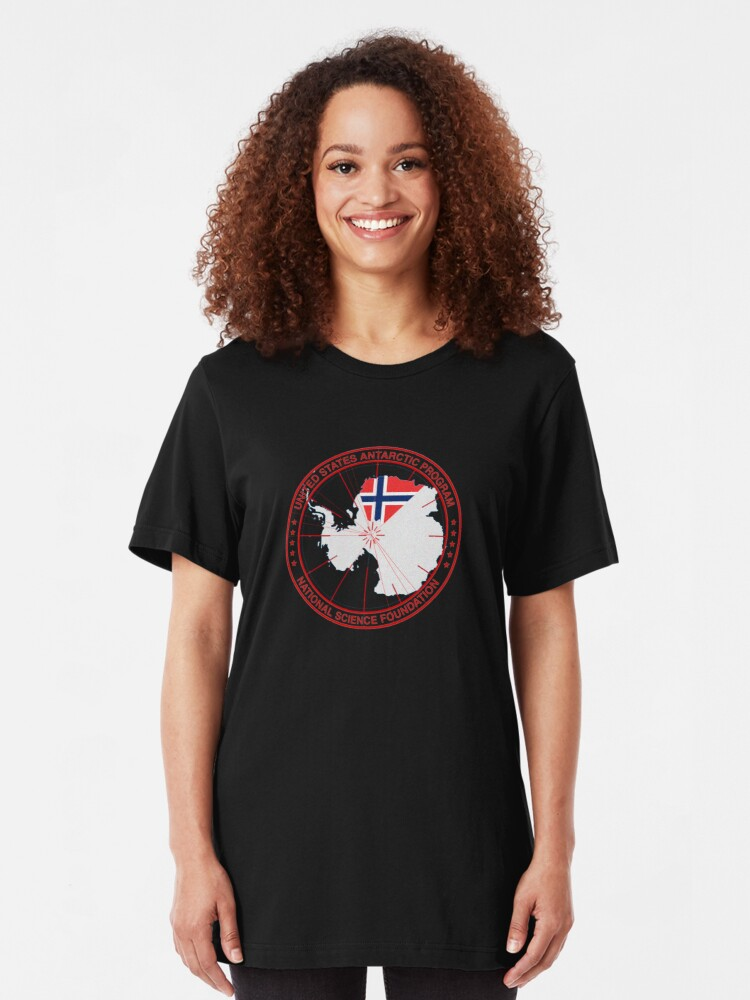 Alternate view of ANTARCTICA - USA/Norway Slim Fit T-Shirt