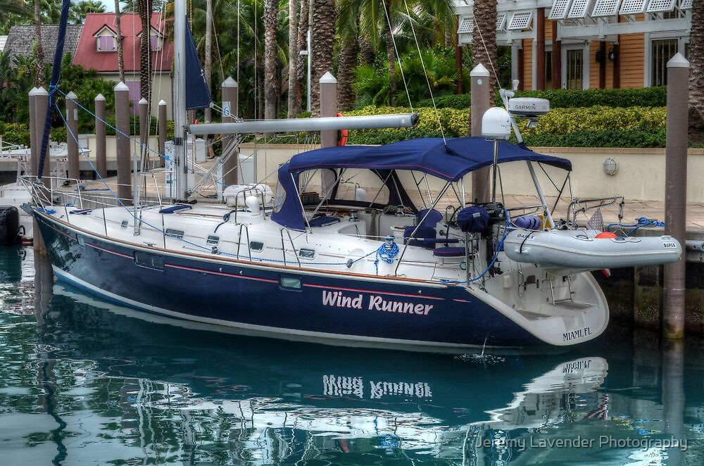 Boat docked at Marina Village in Paradise Island, The Bahamas by Jeremy Lavender Photography