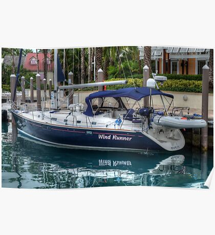 Boat docked at Marina Village in Paradise Island, The Bahamas Poster