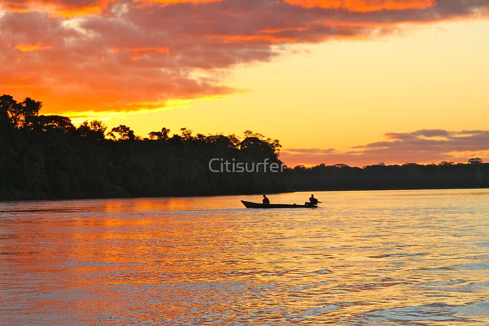 Sunset over the Amazon Rainforest by Citisurfer