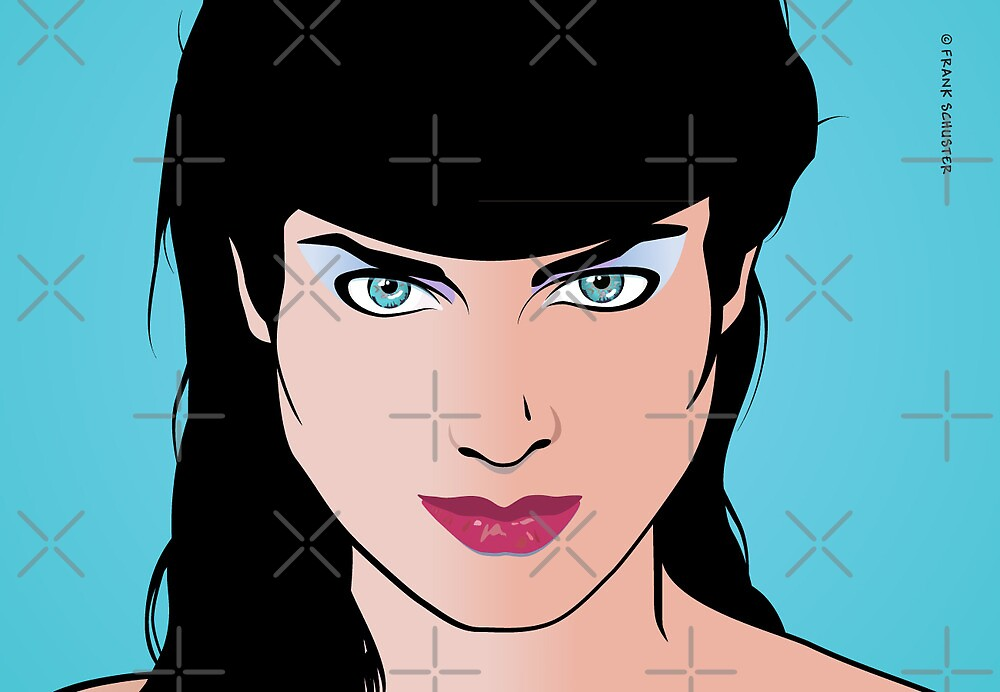 Pop Art Illustration of Girl  by Frank Schuster