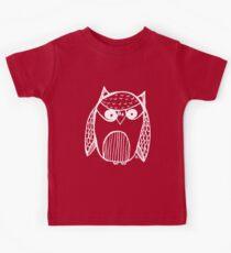 Owl number 14 - white Kids Tee