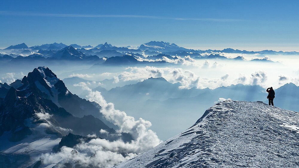 Morning on Mont Blanc by Tom Fahy
