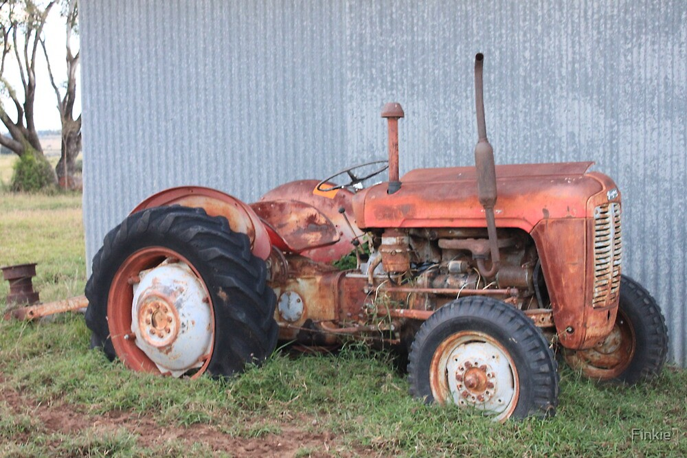 Old Fergie Tractor by Finkie