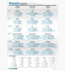 Learn French - Common Verbs Poster