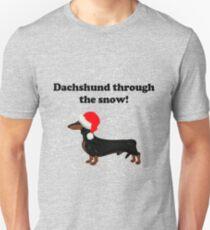 Dachshund Through the Snow T-Shirt