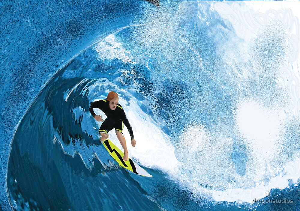Surfer in the Tube by dragonstudios