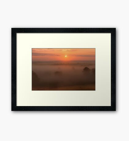 Mornings Embrace Framed Print