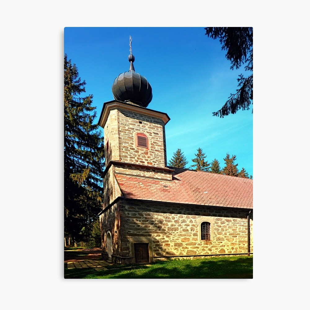 Maria Rast forest chapel 3 Canvas Print