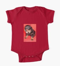 Rottweiler Puppy Howling For Attention Kids Clothes