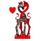 Giraffe Love - Passionate Red by Kay Patterson