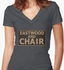 Eastwood and Chair Women's Fitted V-Neck T-Shirt