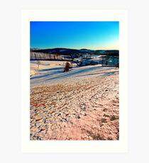 Smooth hills in winter wonderland Art Print