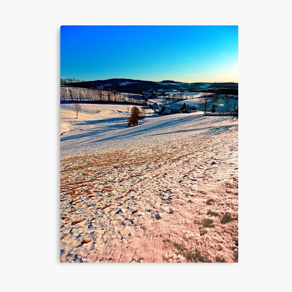 Smooth hills in winter wonderland Canvas Print