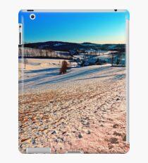 Smooth hills in winter wonderland iPad Case/Skin