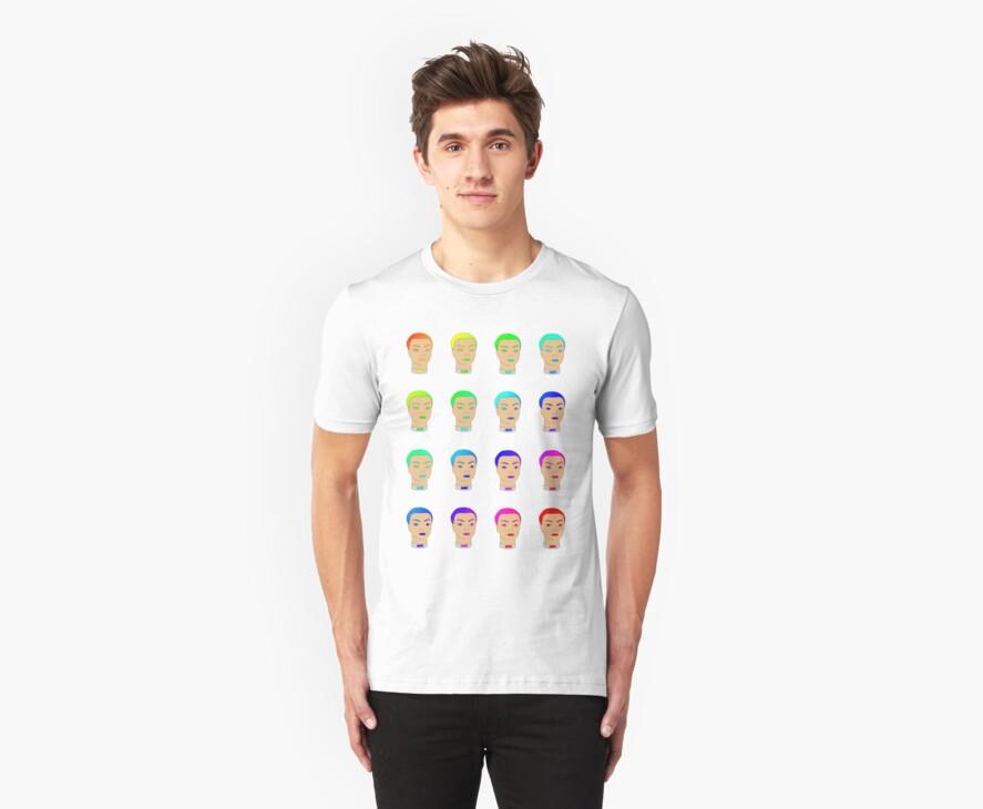 rainbow heads by IanByfordArt