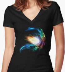 Collide Women's Fitted V-Neck T-Shirt
