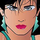 Pop Art Illustration of Beautiful Woman Veronica by Frank Schuster