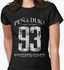 Peña Dura Backbreakers Wrestling Team Womens Fitted T-Shirt