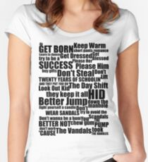 Subterranean Homesick Blues (Black text) Women's Fitted Scoop T-Shirt