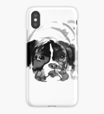 sad dog iPhone Case