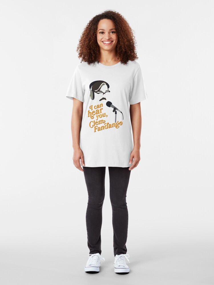 """Alternate view of Toast of London - """"I can hear you, Clem Fandango"""" Slim Fit T-Shirt"""