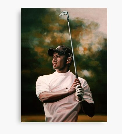 Tiger Woods painting Canvas Print