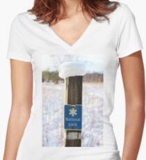 The National Park Women's Fitted V-Neck T-Shirt