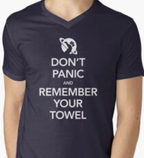 Don't Panic and Remember Your Towel Men's V-Neck T-Shirt