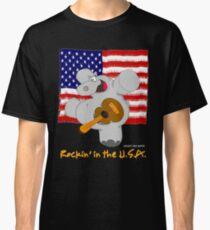 Hippo Rockin in the USA Classic T-Shirt