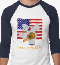 Hippo Rockin in the USA T-Shirt