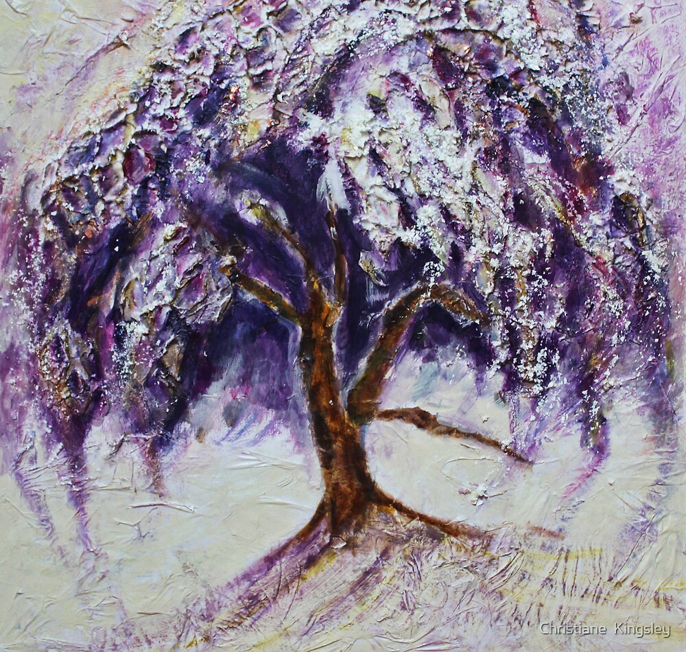 Happy Dance of Weeping Tree by Christiane  Kingsley