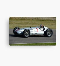 August liked to take his old Merc for a bit of a spin.  Canvas Print