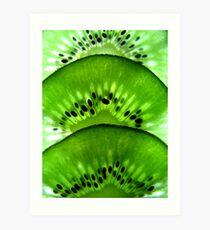 Macro Kiwi Fruit Art Print
