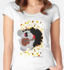 Hippo Exploding Record Women's Fitted Scoop T-Shirt