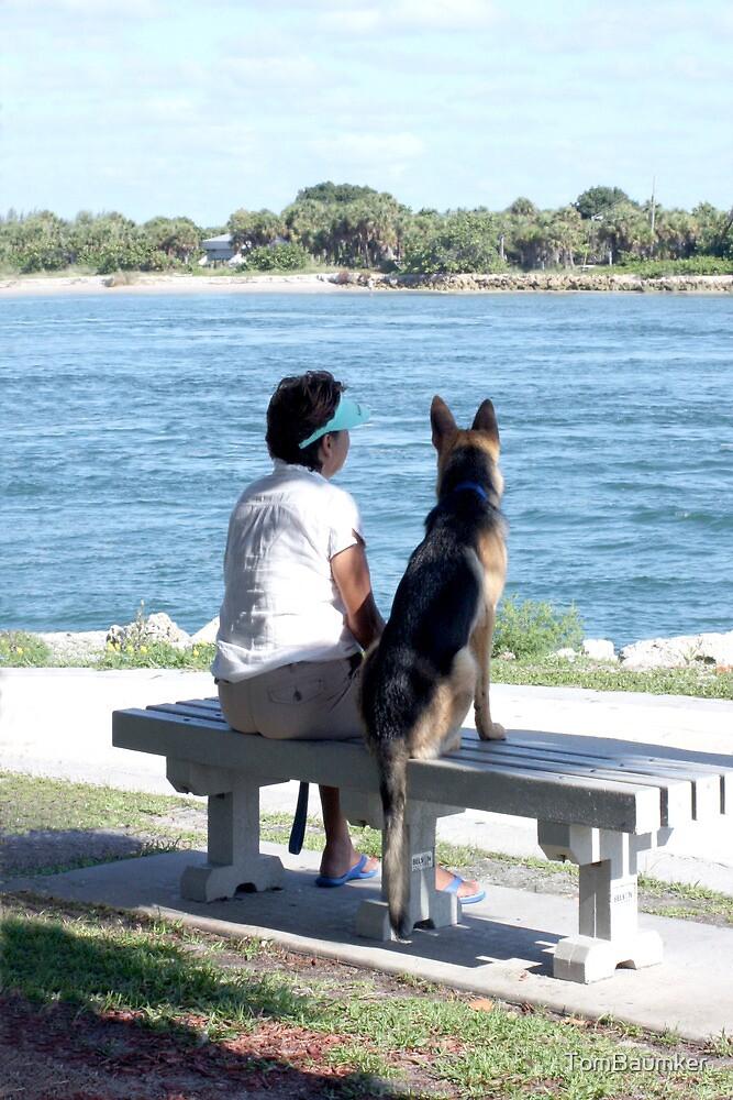 LADY & DOG by TomBaumker