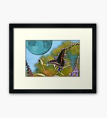 Once Upon a Blue Moon Framed Print